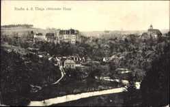Postcard Raabs an der Thaya Niederösterreich, Blick auf den Ort, Flusspartie