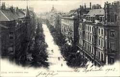Postcard Zürich Stadt Schweiz, Blick in die Bahnhofstraße, Häuser, Hotel Terminus