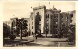 Postcard Heliopolis Ägypten, Place in from of the Palace Hotel