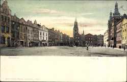 Postcard Pardubice Pardubitz Stadt, Blick auf den Marktplatz