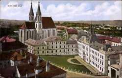 Postcard Kroměříž Kremsier Reg. Zlin, Blick auf den Schlosshof