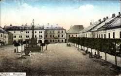 Postcard Mohelnice Müglitz March Reg. Aussig, Ringplatz, Denkmal