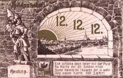 Postcard Hildesheim in Niedersachsen, Huckup, 12 12 1912, Datum