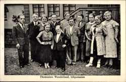 Ak Thomasinis Wunderland, Liliputanien, Liliputaner, Gruppenfoto