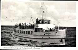 Postcard Nordseeheilbad Langeoog, Fahrgastschiff Langeoog IV.