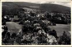 Postcard Świeradów Zdrój Bad Flinsberg Schlesien, Villen an der Brunnenstraße, Kurhaus