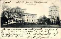 Postcard Homel Weißrussland, Straßenpartie mit Blick auf Gebäude, Pałac ks. Paskiewicz