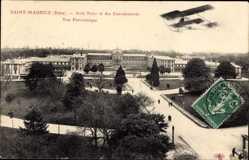 Postcard Saint Maurice Val de Marne, Asile National des Convalescents, vue panoramique