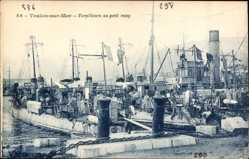 Postcard Toulon sur Mer Var, Französisches Kriegsschiff,336, Torpilleurs au petit rang