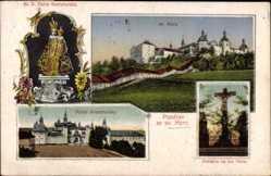 Postcard Svata Hora Reg. Mittelböhmen, Bl. P. Maria Svatohorska, Kalvarie