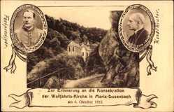 Postcard Ribeauvillé Rappoltsweiler Elsaß Haut Rhin,Wallfahrtskirche Maria Dusenbach