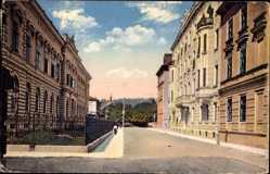 Ak Ljubljana Laibach Slowenien, Straßenpartie im Ort, Häuser, Fassaden