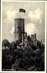 Postcard Bonn in Nordrhein Westfalen, Ansicht der Godesburg, Fahne