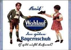 Künstler Ak Kauf' Wohlauf, Den guten Bayernschuh, Reklame, Hans Schinnagel