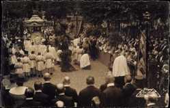 Foto Ak Köln am Rhein, Fronleichnahmsprozession 1921, Erzbischof