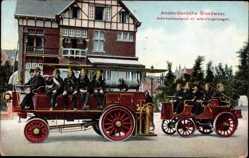Ak Amsterdam Nordholland, Blick auf Feuerwehrauto und Wohnhaus