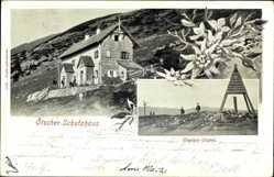 Postcard Mittersbach Niederösterreich, Ötscher Schutzhaus, Ötscher Gipfel