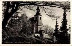 Postcard Kłodzko Glatz Schlesien, Blick auf Bergkirchlein Maria Schnee
