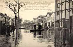 Postcard Maisons Alfort Val de Marne, Inondation de Janvier 1910, Rue des Deux Moulins