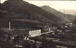 Foto Ak Scheibbs Niederösterreich, Blick auf den Ort, Fabrikgelände