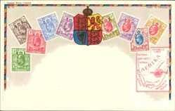 Briefmarken Litho Südafrika, Wappen, Kapland, Matabele Land, Transvaal