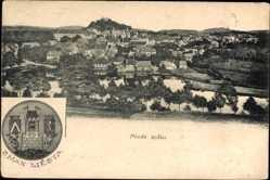Wappen Ak Mlada Vozice Südböhmen, Znak Mesta, Totalansicht der Ortschaft