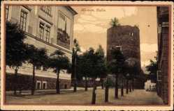 Postcard Klatovy Klattau Reg. Pilsen, Basta, Festungsturm, Straßenpartie