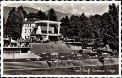 Postcard Vevey Corseaux Kt. Waadt Schweiz, Plage, Blick in das Freibad