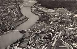 Postcard Rheinfelden Kt. Aargau Schweiz, Totalansicht der Ortschaft, Fliegeraufnahme