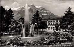 Postcard Glarus Kt. Glarus Schweiz, Hotel Glärnerhof, Volksgarten, Weggis