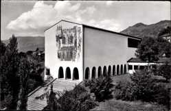 Postcard Schwyz Stadt Schweiz, Blick auf das Bundesbrief Archiv, Treppe