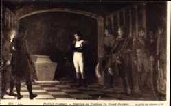 Künstler Ak Ponce, Camus, Napoleon au Tombeau du Grand Frederic