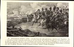 Künstler Ak Bataille d'Iena 1806, Napoleon Bonaparte, Gefecht
