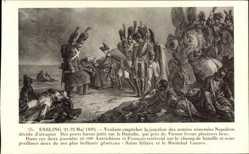 Künstler Ak Essling 21 Mai 18089, Napoleon Bonaparte, Saint Hilaire, Marechal