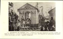 Künstler Ak Entrevue du Niemen 1807, Napoleon, Alexandre
