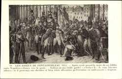 Künstler Ak Les Adieux de Fontainebleau 1814, Napoleon Bonaparte