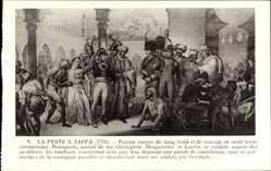 Künstler Ak La Peste a Jaffa 1799, Napoleon Bonaparte