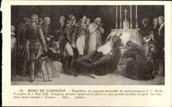 Künstler Ak Mort de Napoleon, Totenbett, Aufbahrung