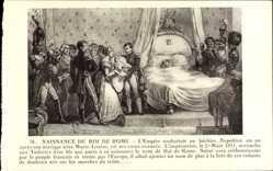 Postcard Naissance du Roi de Rome, Napoleon Bonaparte, Geburt, 20 Mars 1811