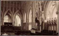 Ak Choir, Wells, Kirche, Innenansicht, Judges Ltd 3392