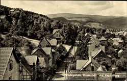 Postcard Wernigerode am Harz, Partie am Kapitelberg, Wohnhäuser, Wald
