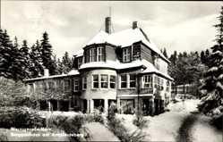 Postcard Wernigerode am Harz, Berggasthaus am Armeleuteberg, Schnee