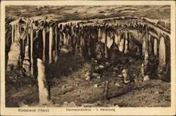 Postcard Rübeland Oberharz am Brocken, Hermannshöhle, 1. Abteilung