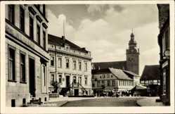 Postcard Havelberg in Sachsen Anhalt, Blick auf den Marktplatz, Kirche