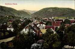 Postcard Ilsenburg am Nordharz, Totalansicht der Ortschaft, Berge, Wald