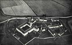 Postcard Gessertshausen Bayern, Kloster Oberschönenfeld, Fliegeraufnahme