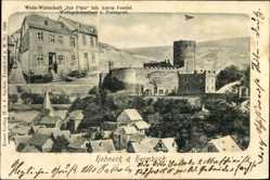Postcard Heimbach in der Eifel, Hohneck, Weinwirtschaft zur Pfalz, Anton Fendel