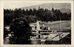 Postcard Friedrichroda im Thüringer Wald, Partie im Schwimmbad