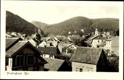Postcard Friedrichroda im Thüringer Wald, Blick über den Ort