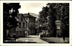 Postcard Friedrichroda im Thüringer Wald, Konditorei und Kaffee Hess, Hotel Alfred
